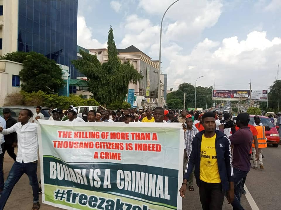 free zakzaky protest in abuja on wed 24th july 2019