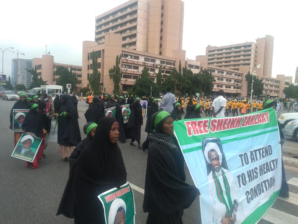 free zakzaky protest in Abuja on wed the 26th june 2019