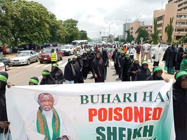 free zakzaky protest in abuja on Tuesday 9th july 2019