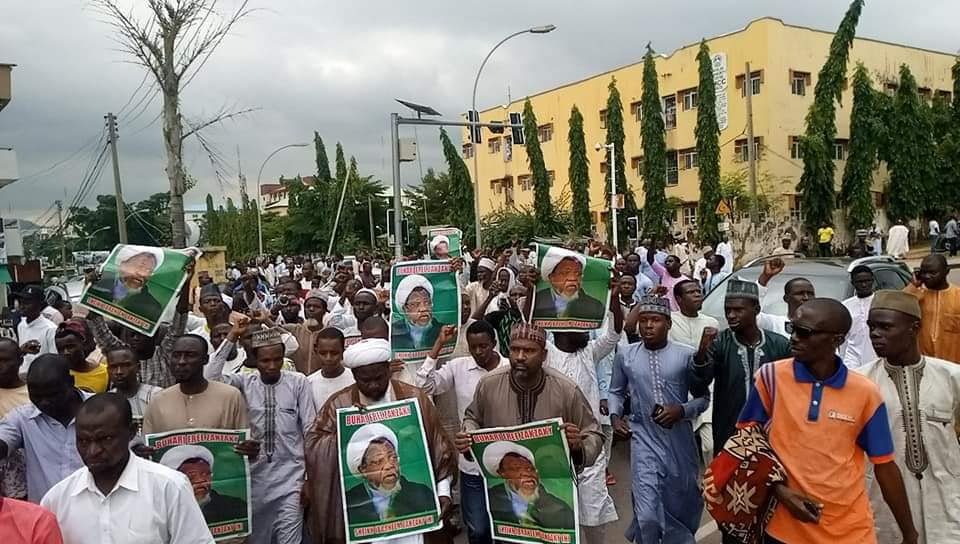 free zakzaky rally in abuja on fri 26th july 2019