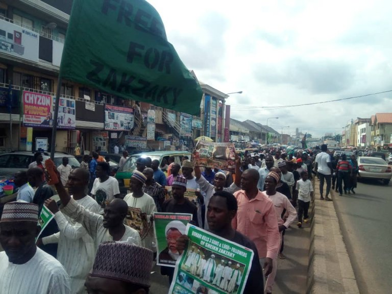 free zakzaky protest in kaduna on thurs 11th july 2019