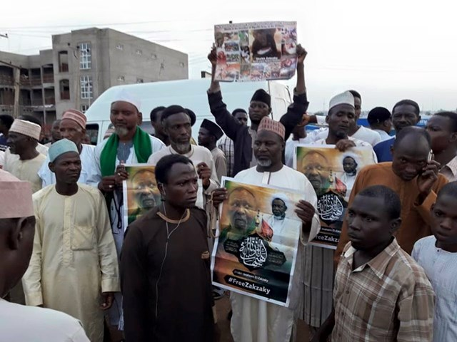 free zakzaky protest in kaduna on tuesday the 21 th of may 2019