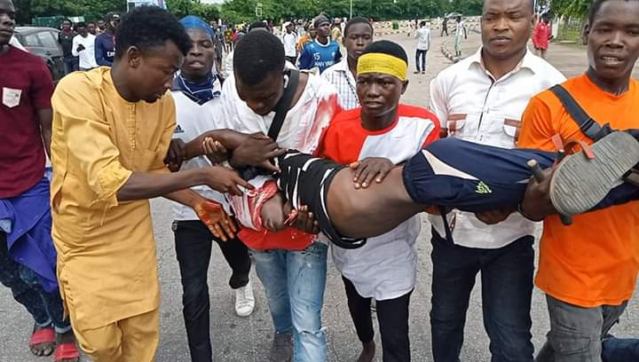 police killed two at zakzaky protest in abuja on Tuesday 9th july 2019