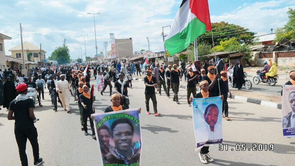 Quds day procession in Bauchi on Fri the 31 th of may 2019